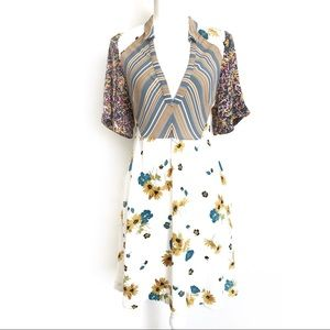 Free People Floral and Stripes Summer Dress